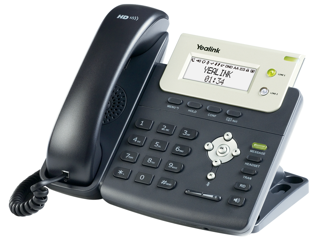 Yealink IP phone with 2 Lines & HD voice
