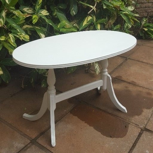 White Oval Coffee Table