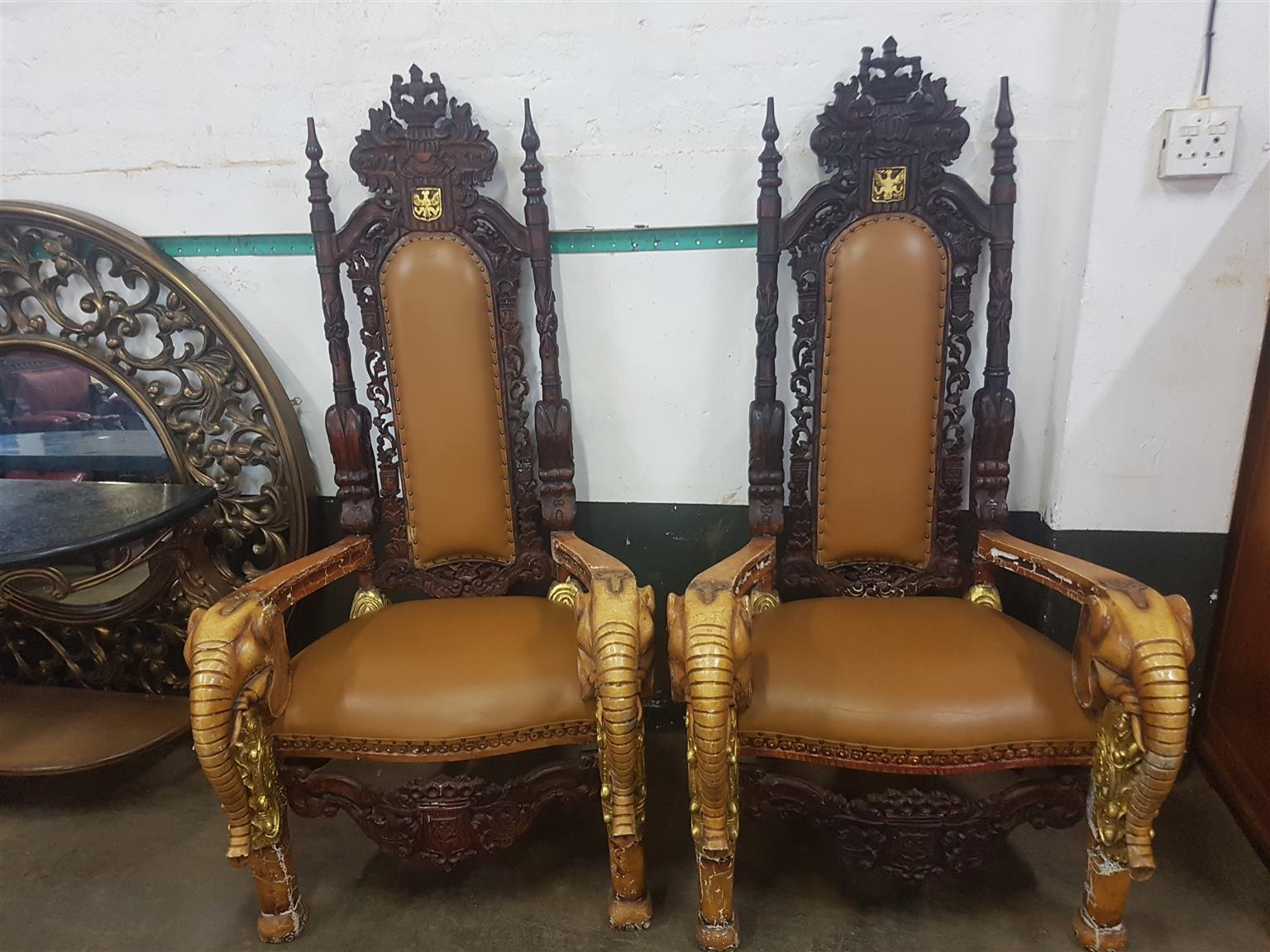 King Queen Antique Chairs Junk Mail