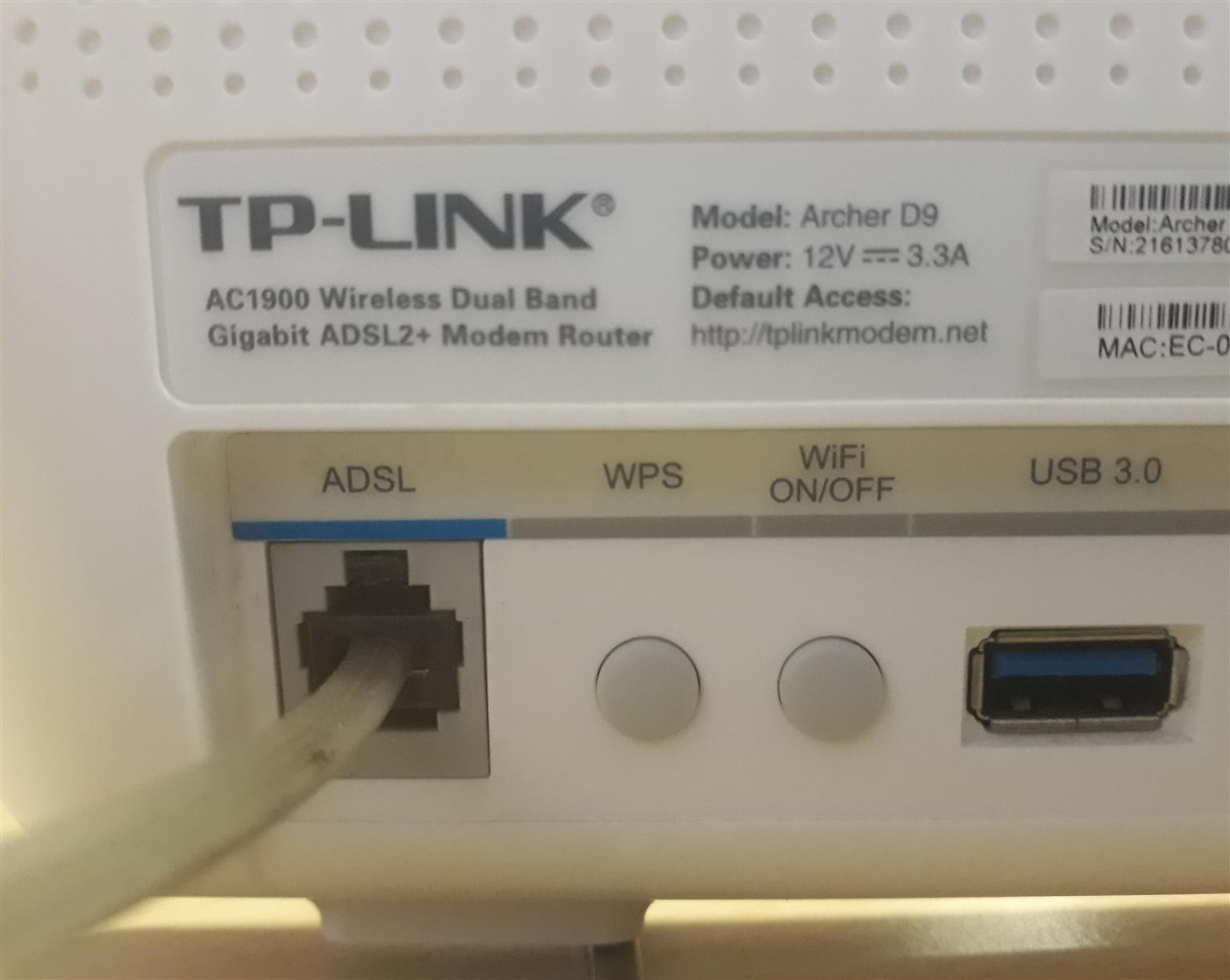 Modem Router  - TP Link Wireless Dual Band  for sale