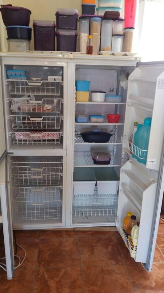 3 door white fridge