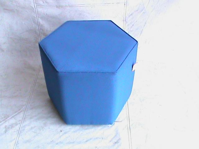 Hexa ottoman blue