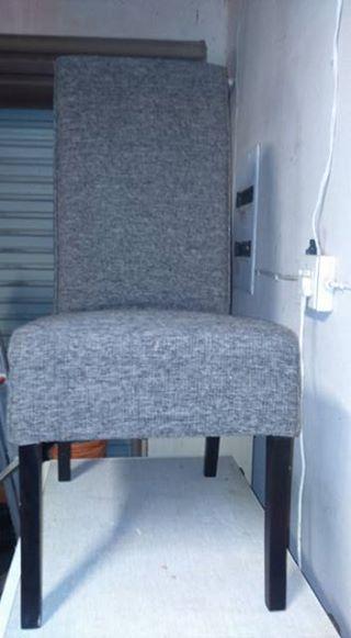 tien grys tweed coricraft eetkamer stoele | Junk Mail