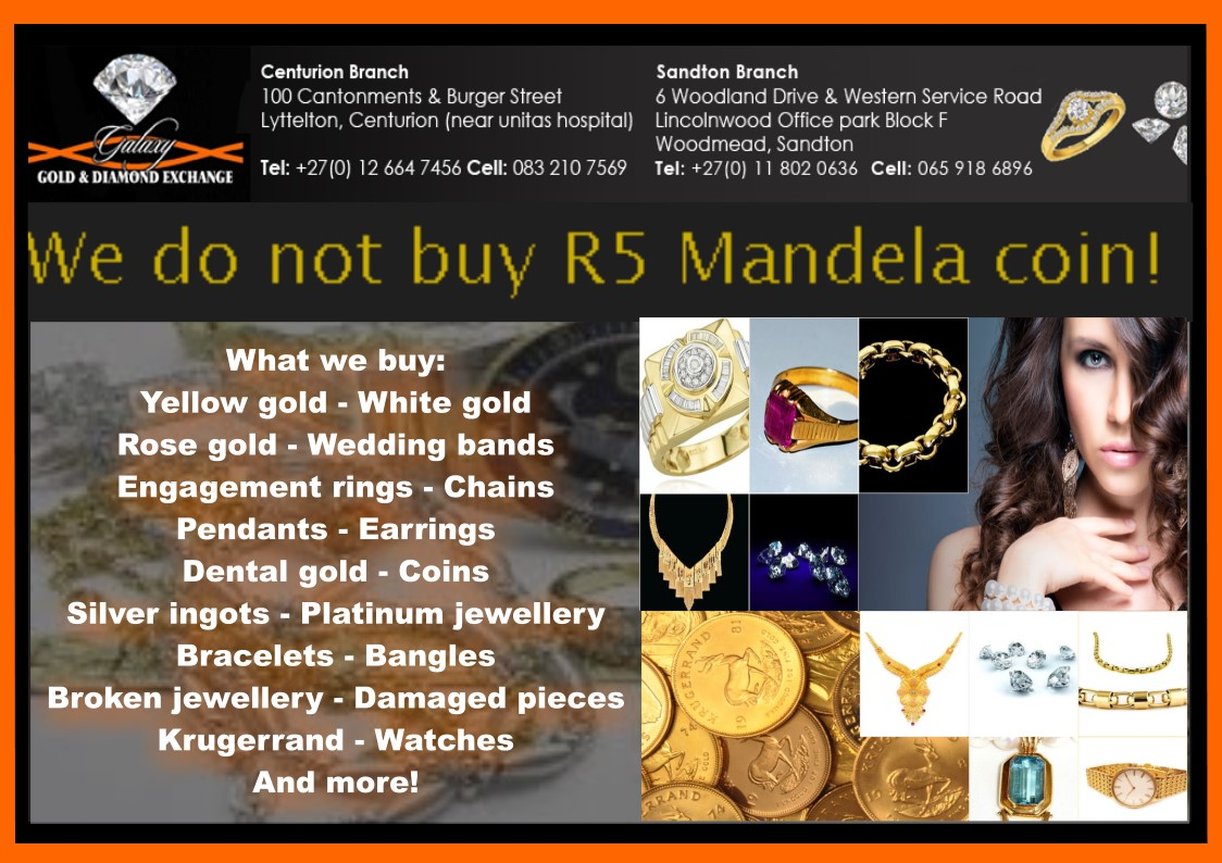 We are buying gold and silver jewellery