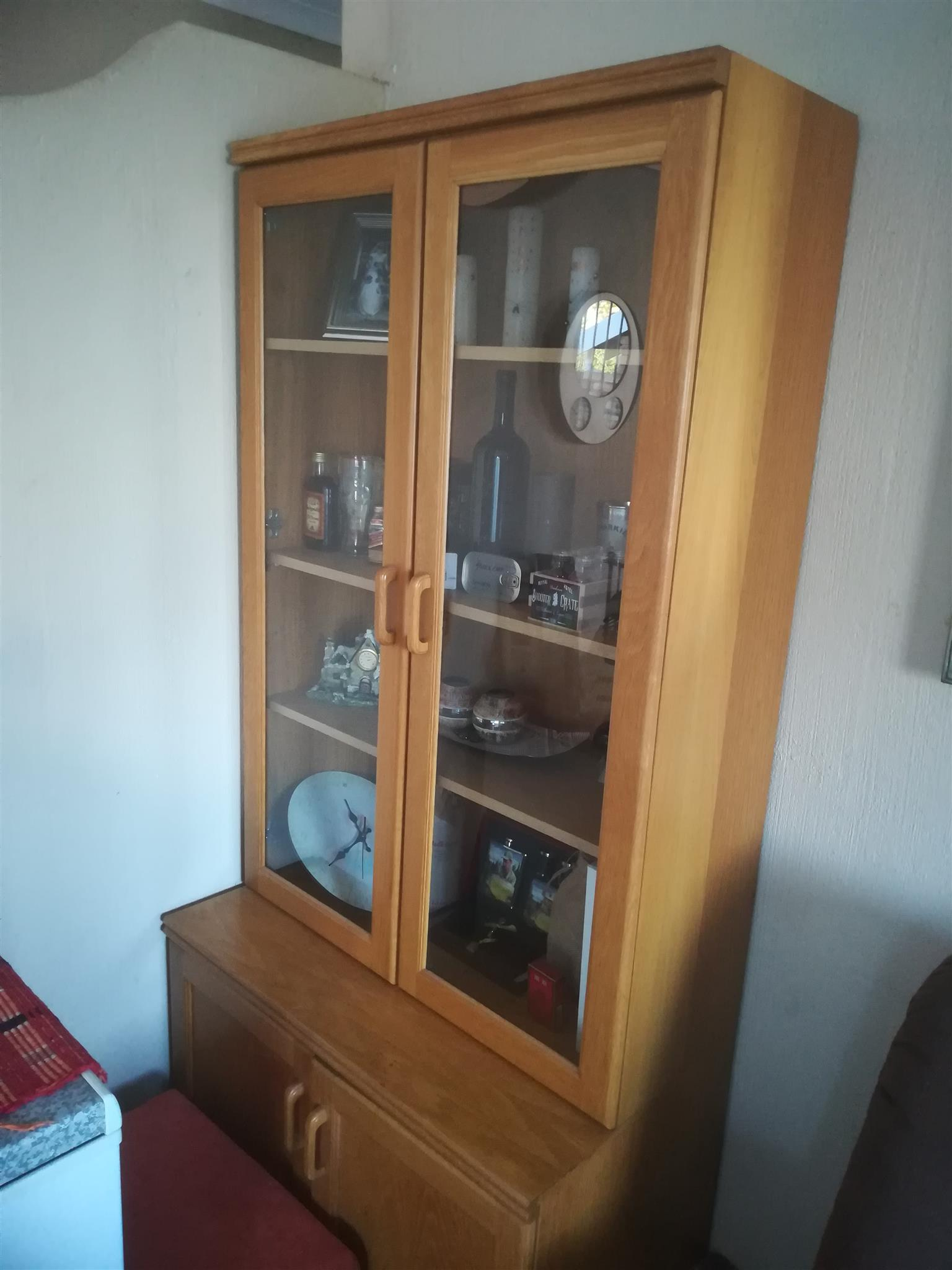 Two Wood Wall Units | Junk Mail