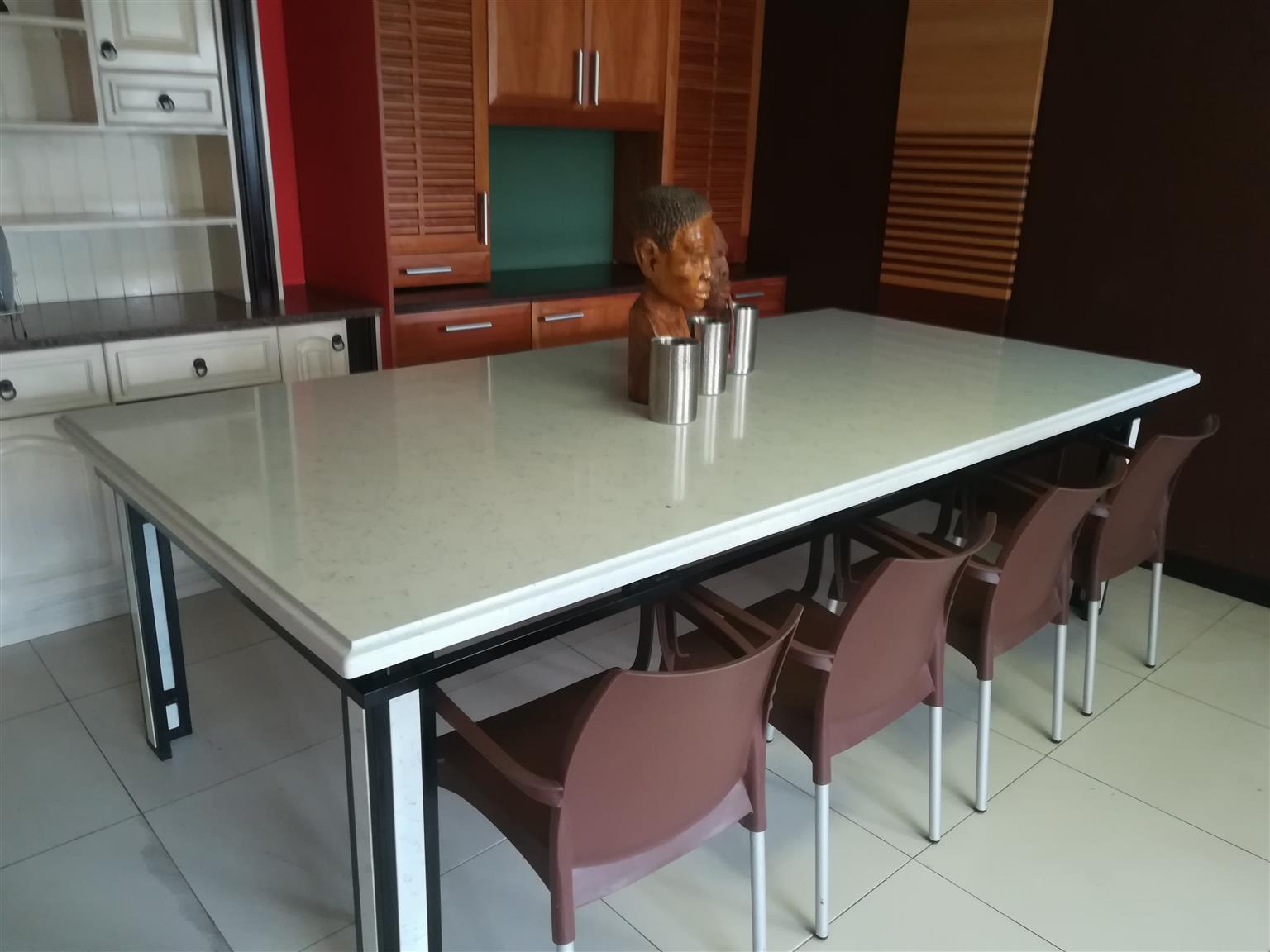 Magnificent Noble Carrara Table