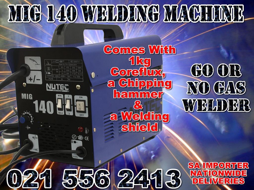 DUAL WELDER Mig 140 gas no gas welder