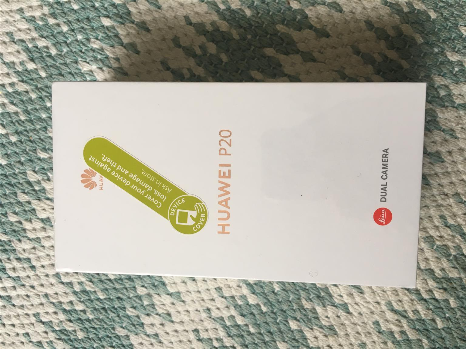 Brand new Huawei P20 midnight blue smartphone for sale