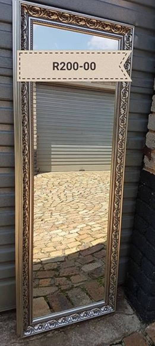 Tall mirror with frame