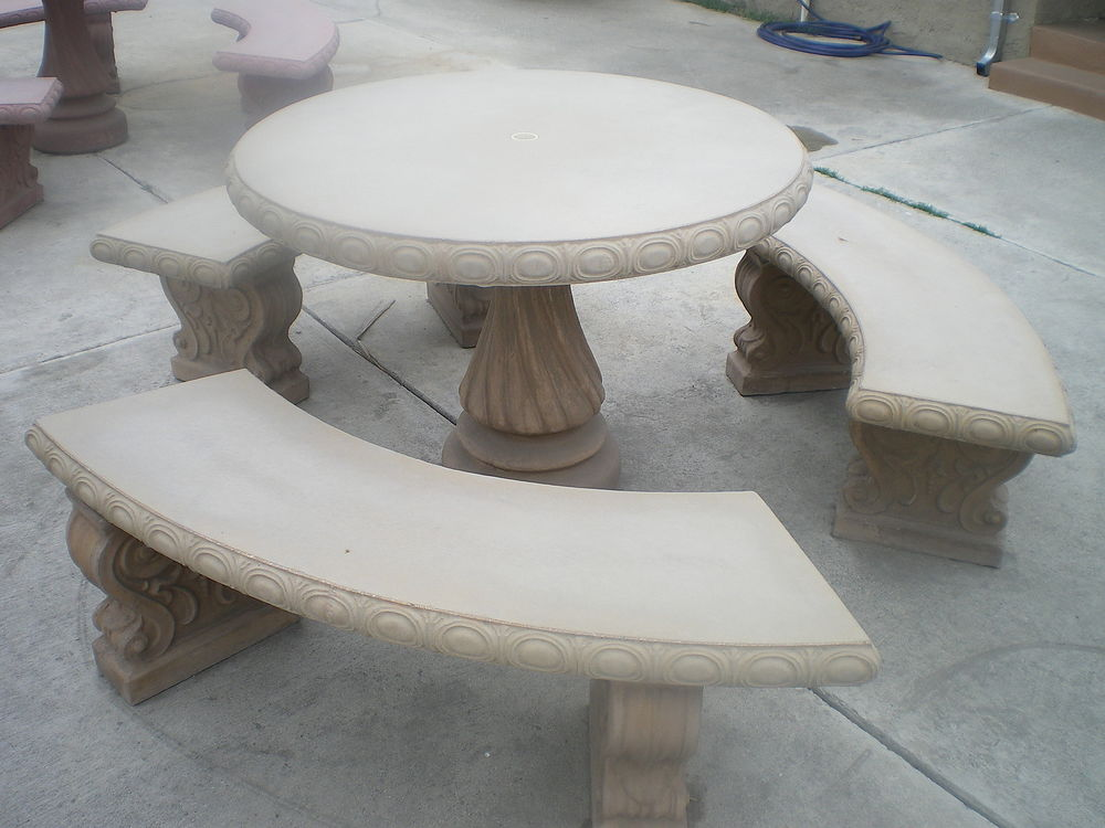 Garden Cement Table And Chairs Brand New R1550 Incl Delivered In Alberton