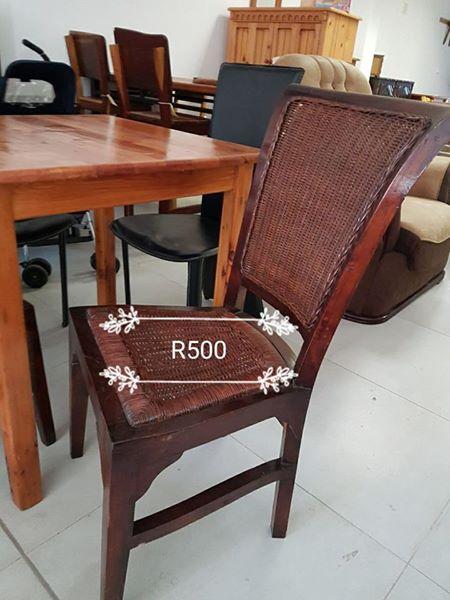 Dark wooden dining chair