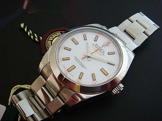 Rolex Oyster Perpetual Milgauss Ref. 116400 White Dial