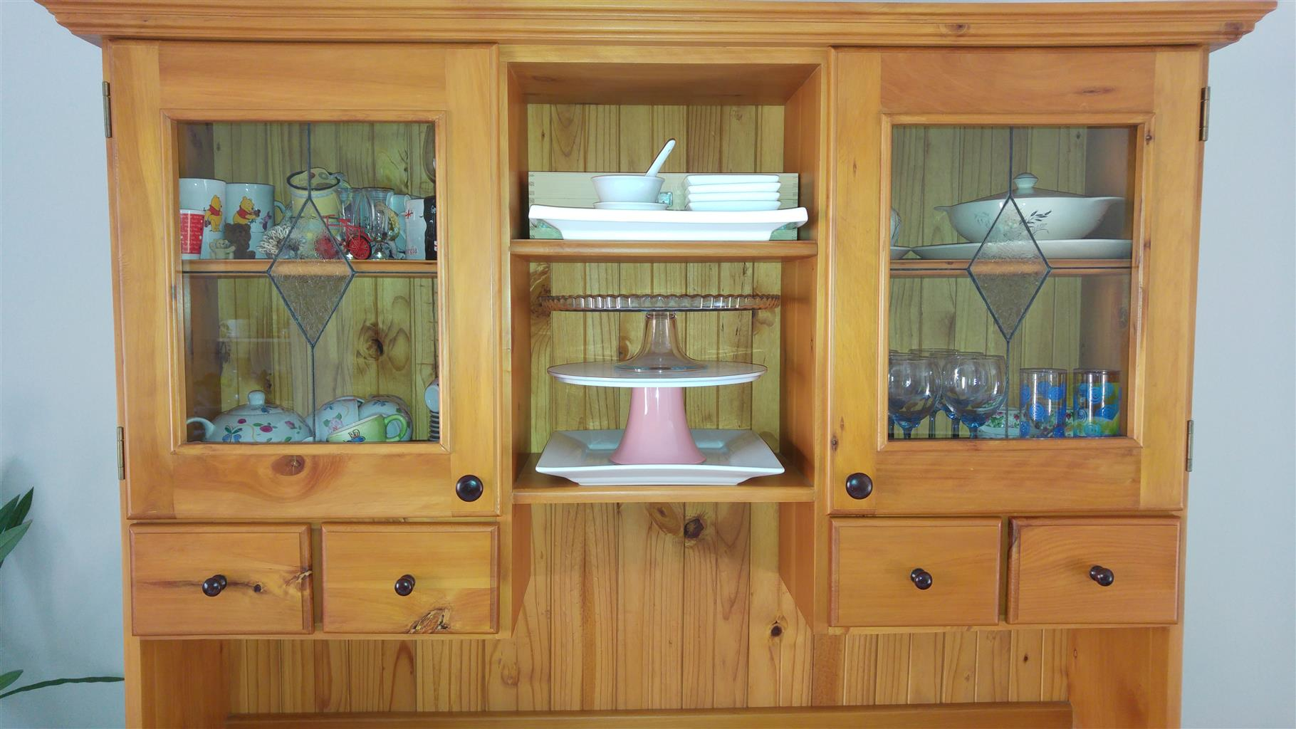 Oregon Pine Kitchen cupboard