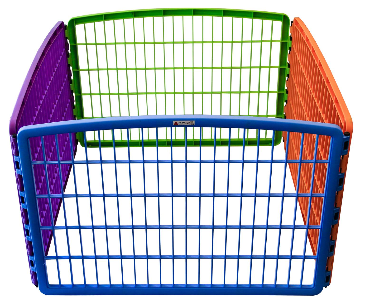 Multi-colour pet playpen [Plastic]
