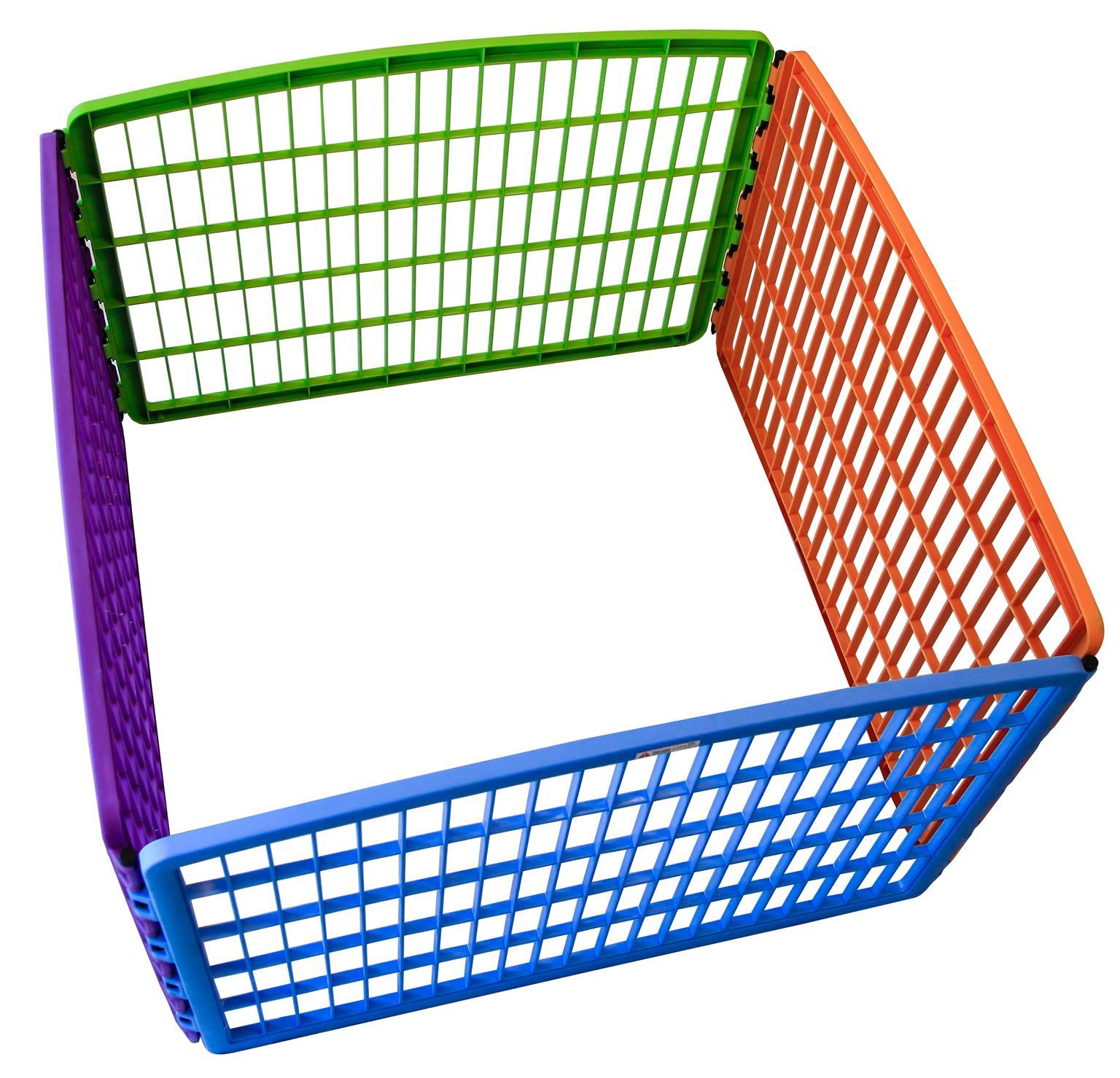 Multi-colour pet playpen [Plastic]