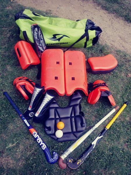 Stormforce hokkie goalie kit.