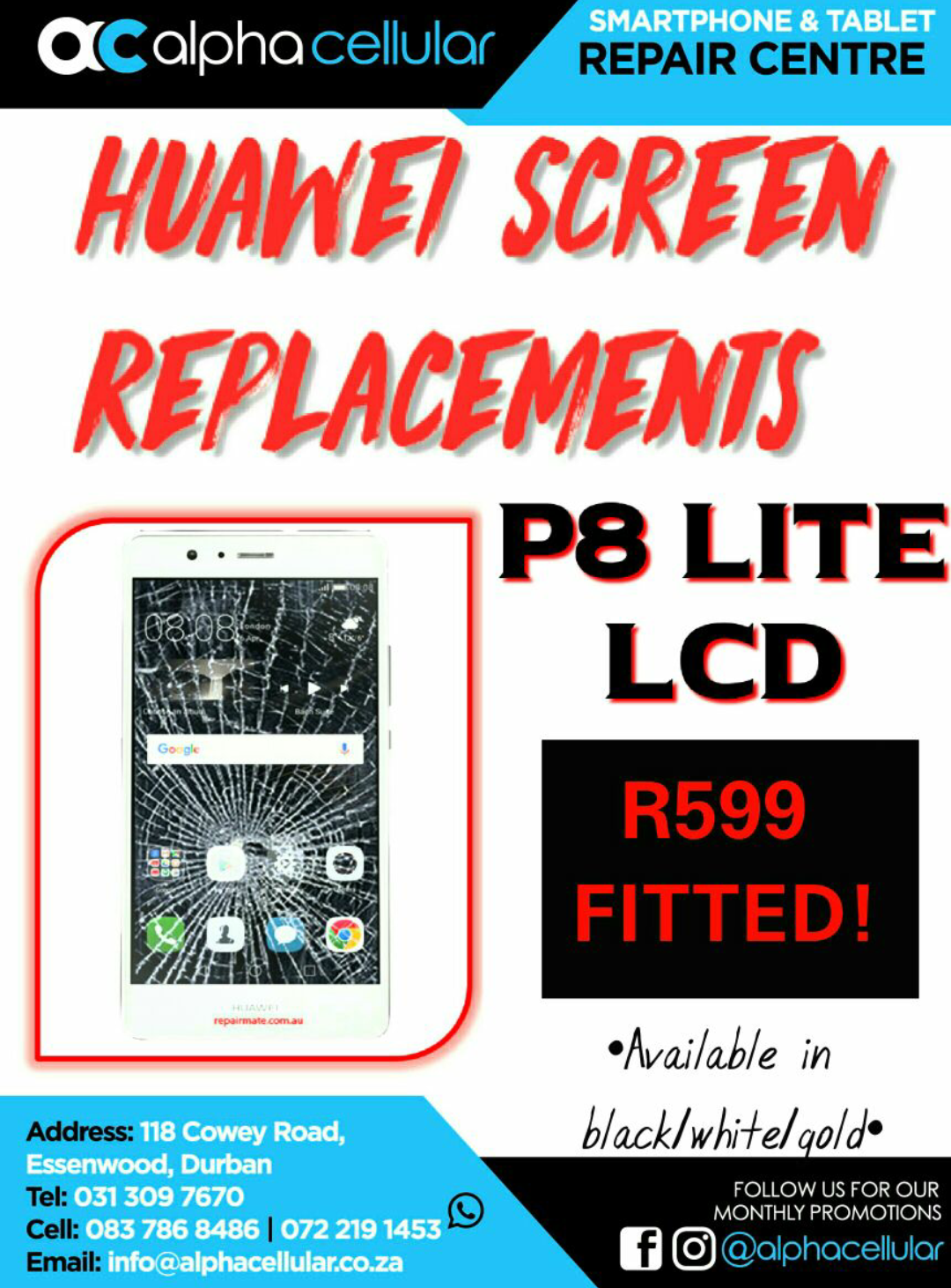 HUAWEI P8 LITE CRACKED SCREEN REPLACEMENTS!