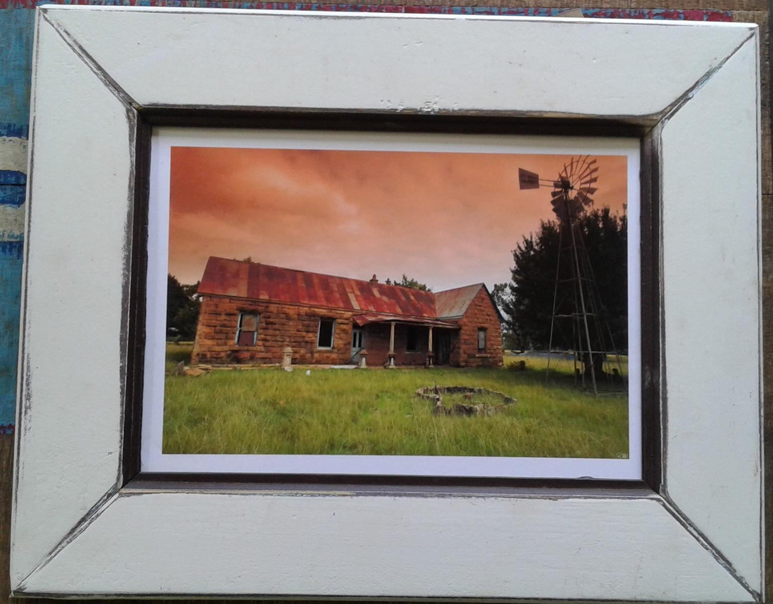 Framed Print: Stoned Cabin. Home decor. Wall Art