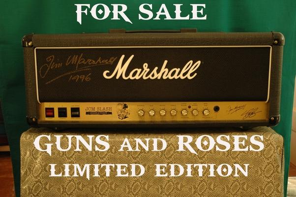 MARSHALL AMP : SLASH LIMITED EDITION 100WATT PLUS 4X12 CAB