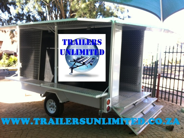 Enclosed Trailer including Stairs