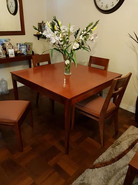 R 6 500 For Sale Mahogany Table Chairs Set R6500 Cape Town
