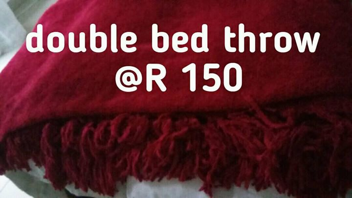 Maroon double bed throw