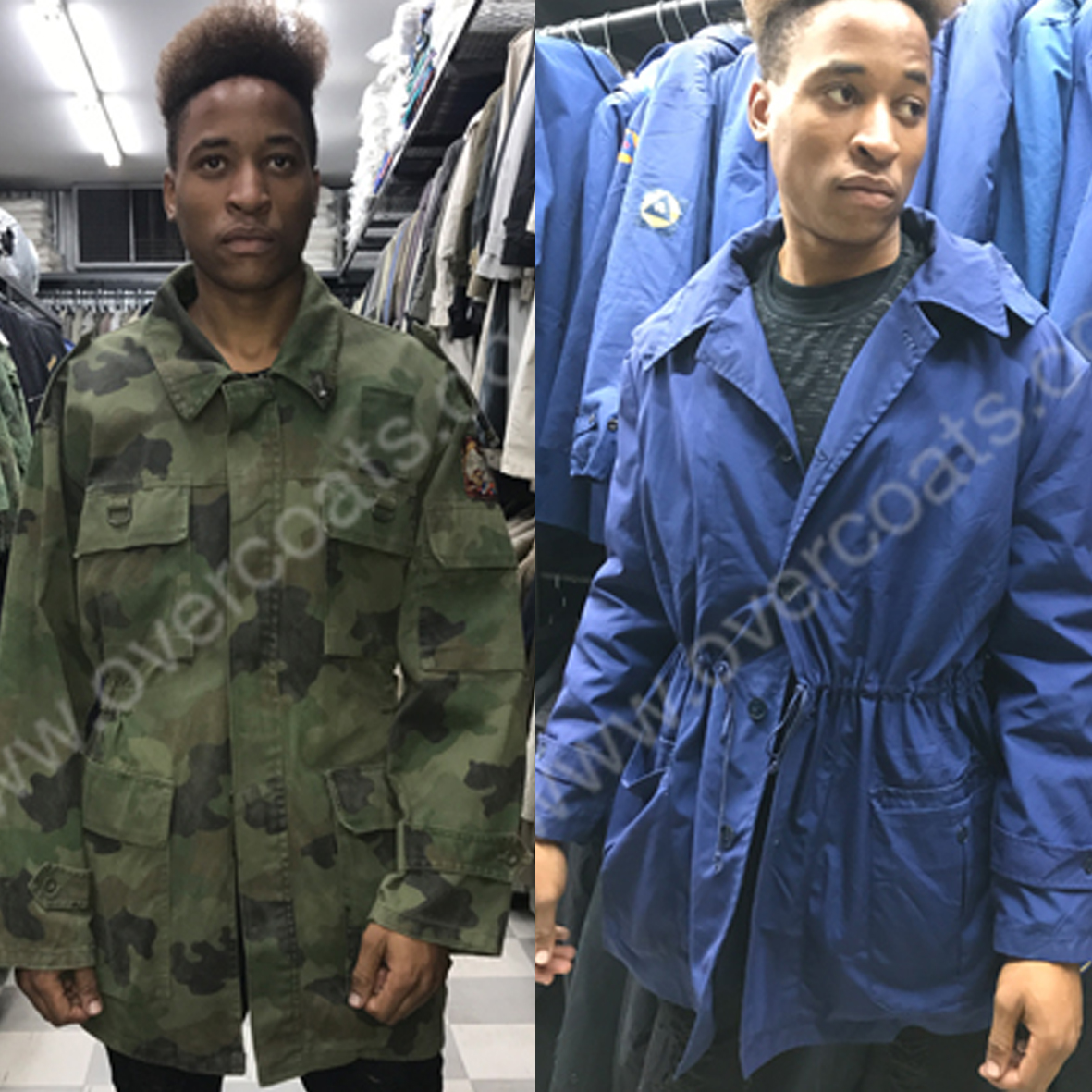 Second Hand Military styled parkas, coats and accessories