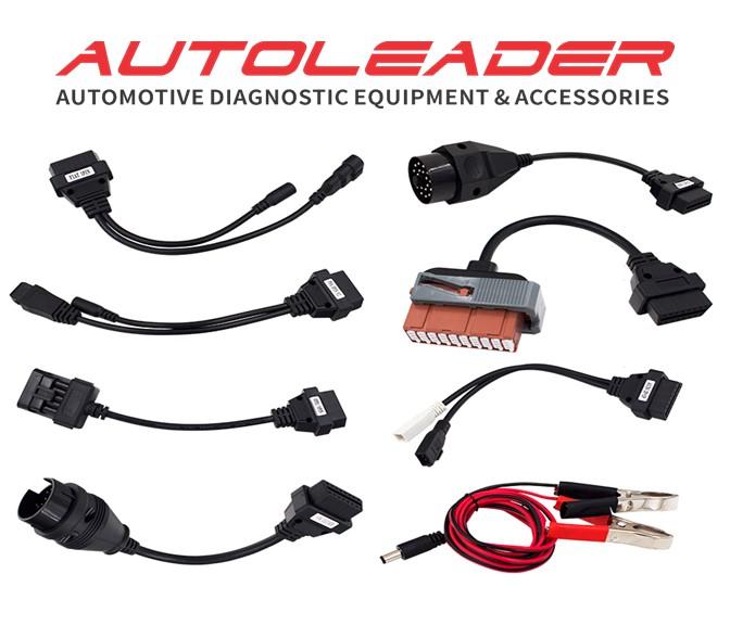 8 PCS Full Set Car Cables Adapters