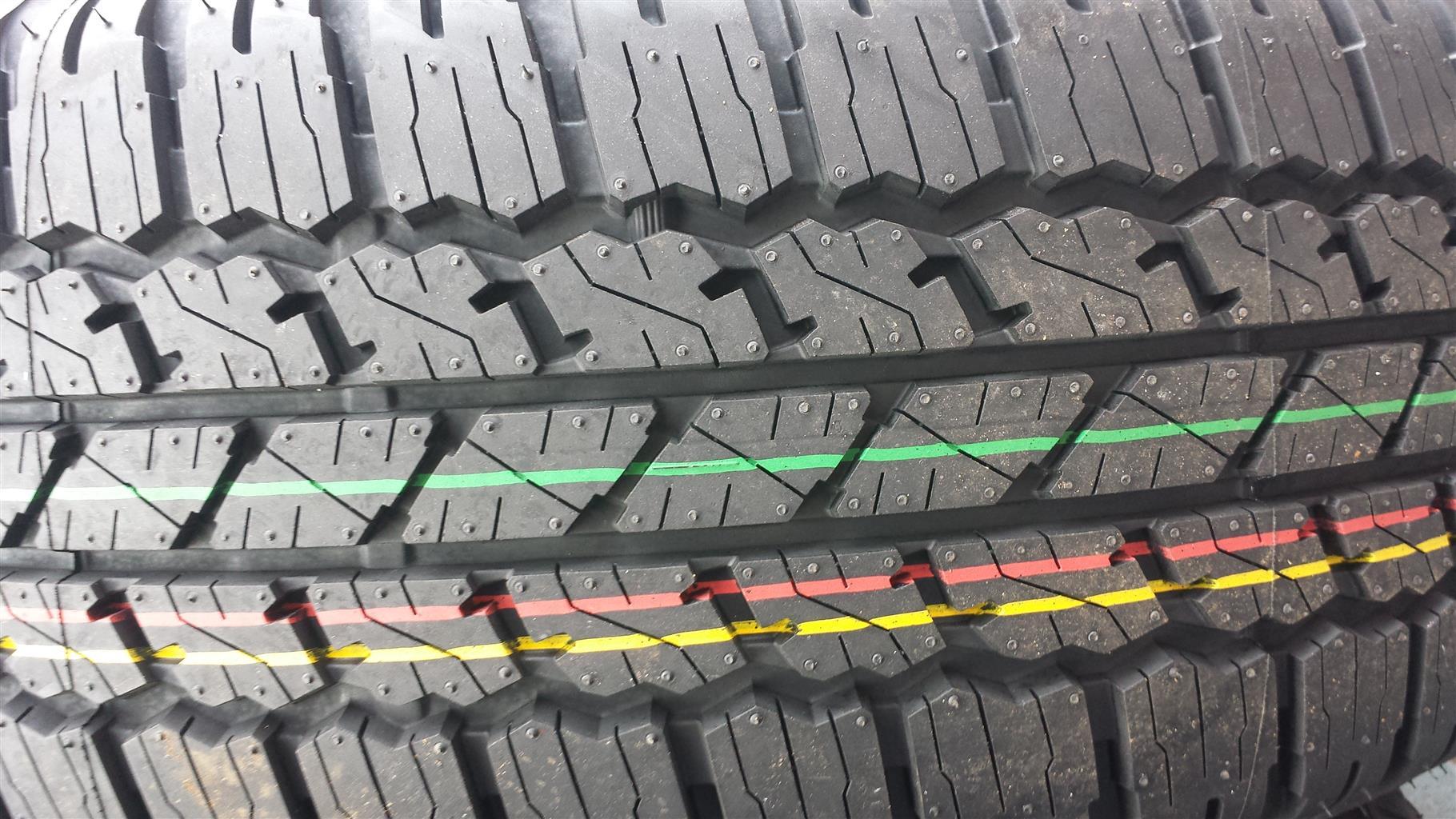 Tyres. 265.65.17 Bridgestone.