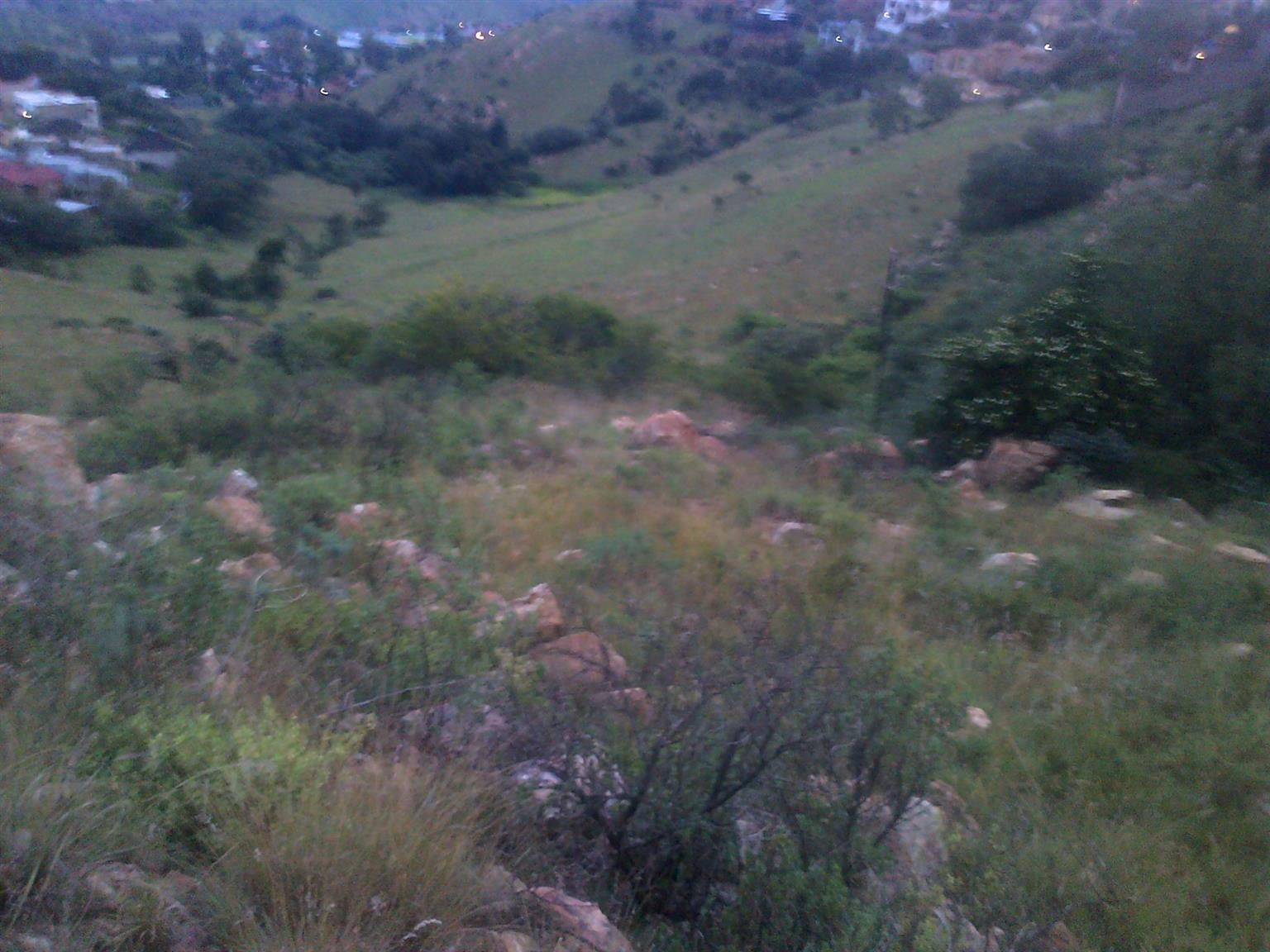 1250m2 stand with unspoiled view for sale