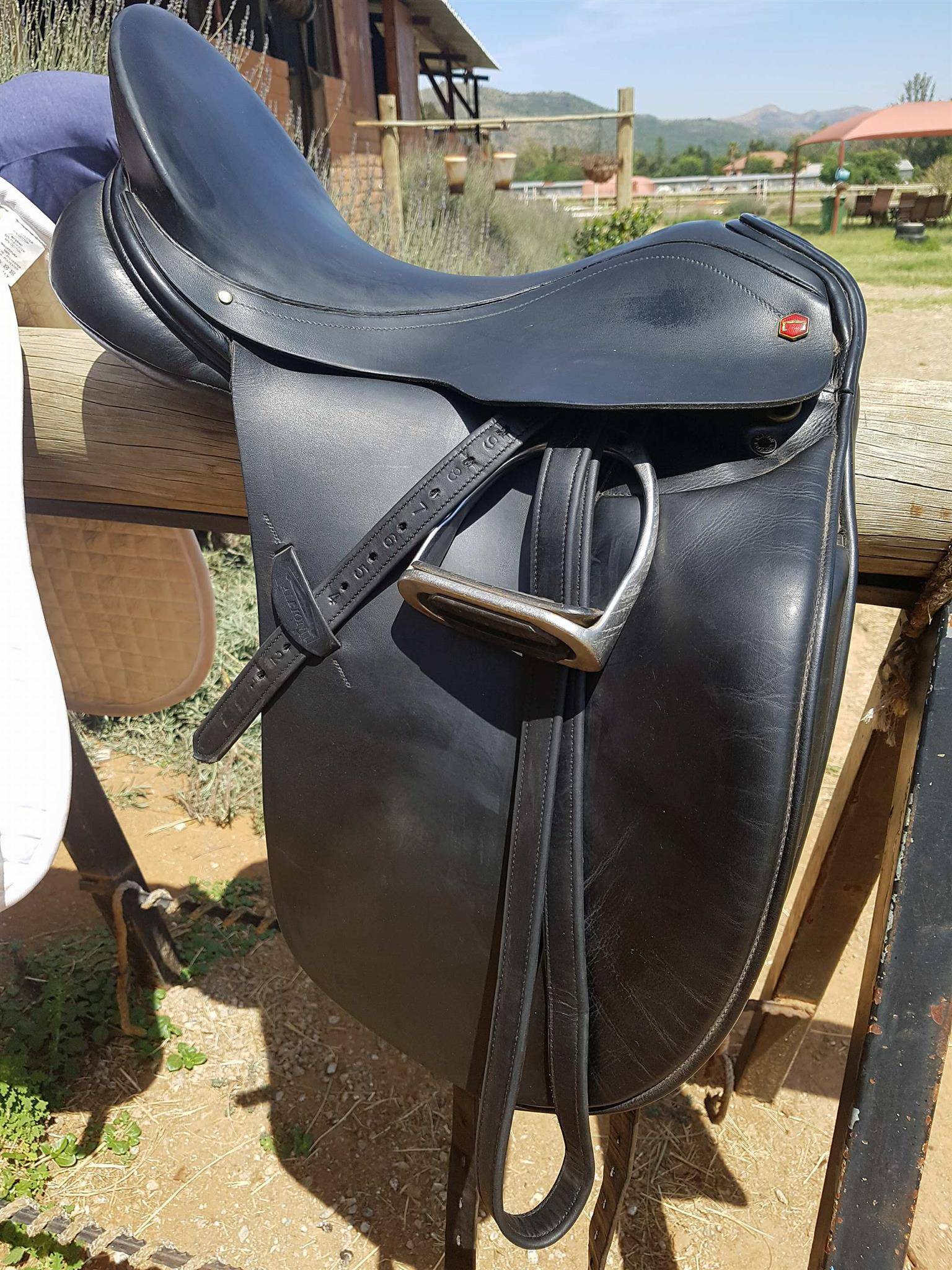 For sale: Albion 17 Inch SLK Dressage saddle in amazing condition. Fitted