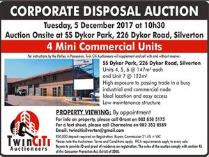 CORPORATE DISPOSAL AUCTION - Business Property for sale