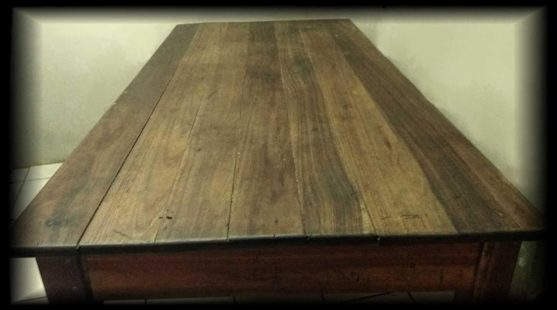 Antique Solid Teak Wood Table