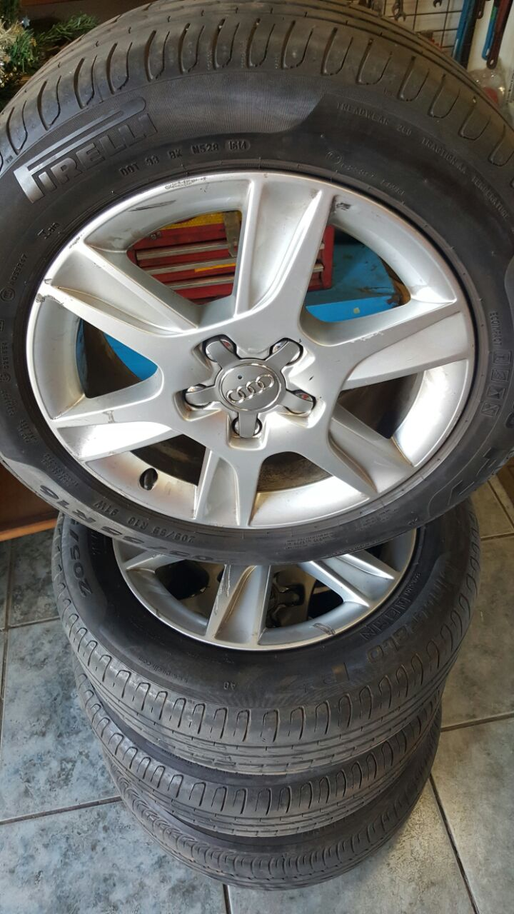 4 x Audi Mags &Tyres