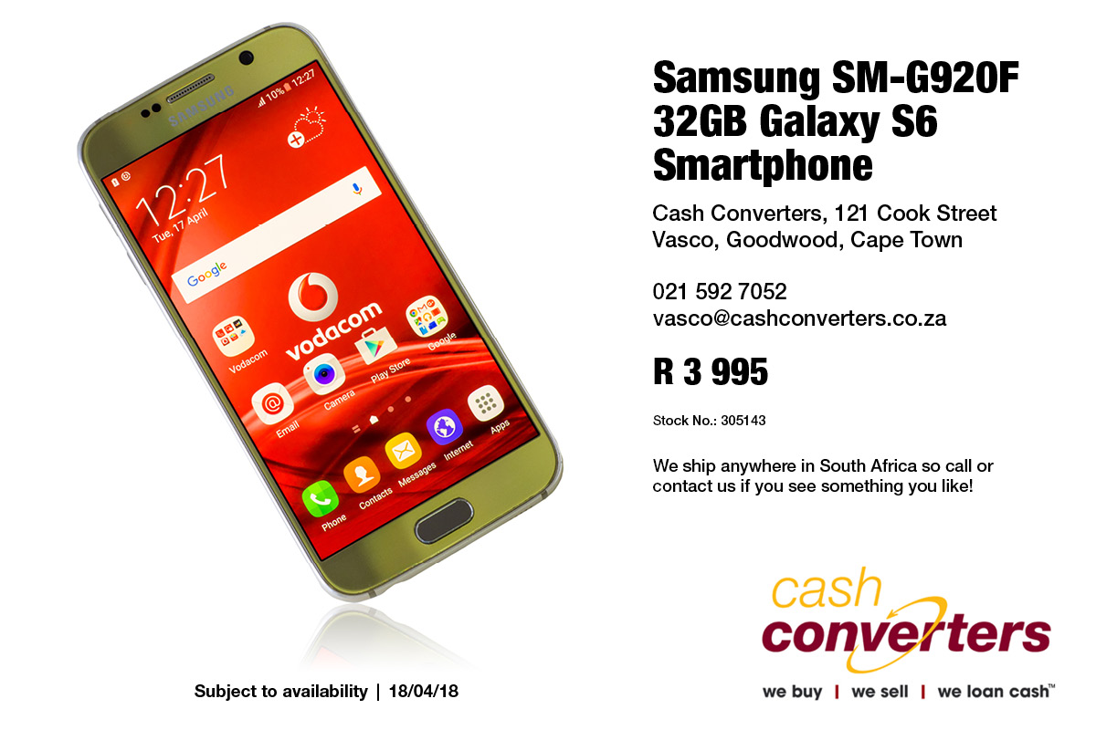 Samsung SM-G920F 32GB Galaxy S6 Smartphone
