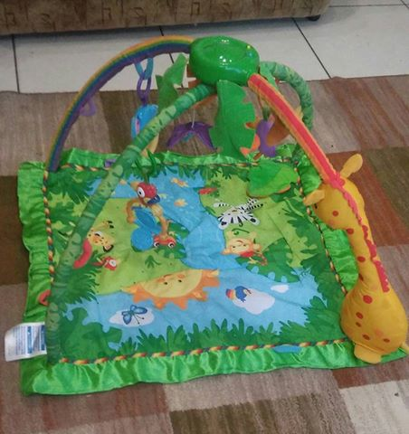 Musical Playmat/playgym with lights & storage bage