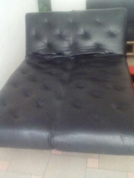 Genuine Leather Sleeper Couch