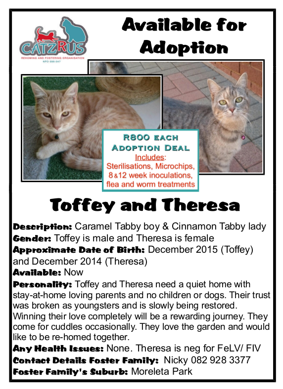 Toffey and Theresa -