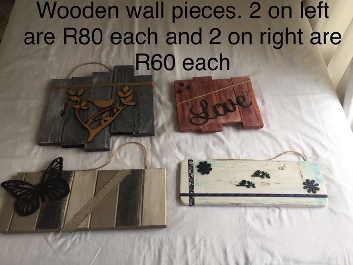Wooden wall pieces