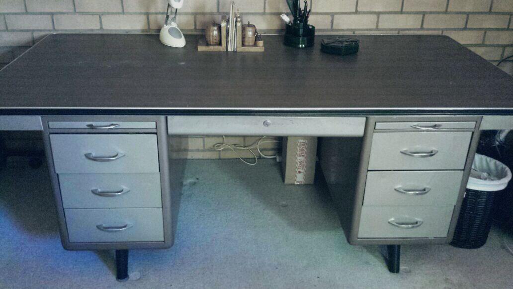 Writing desk  + Long filing Cabinet