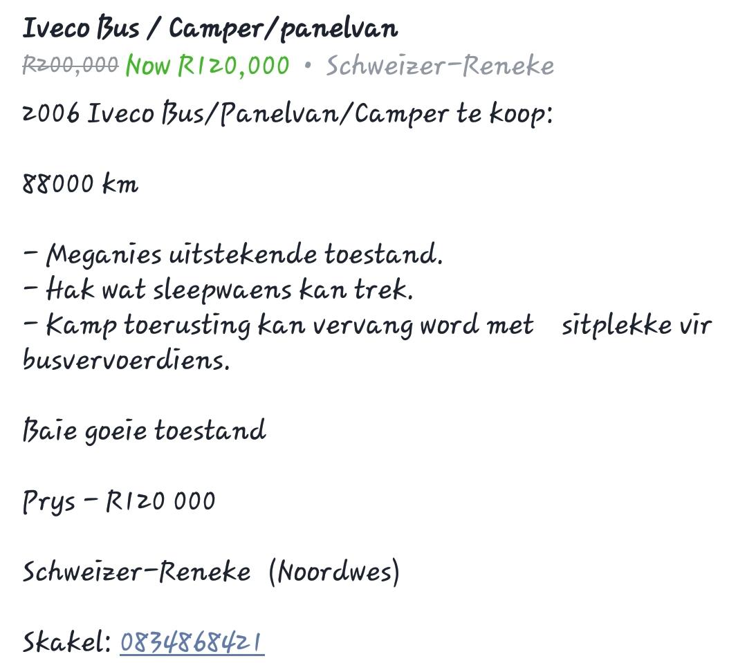 Camper/Bus/Panelvan