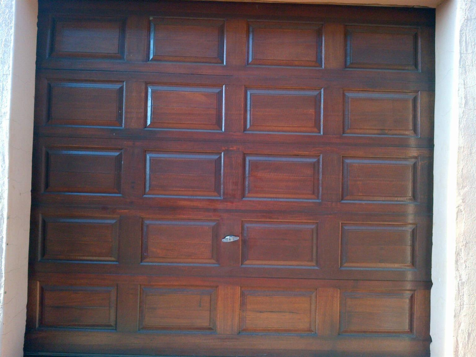 2 X Single Meranti Garage Doors For Sale