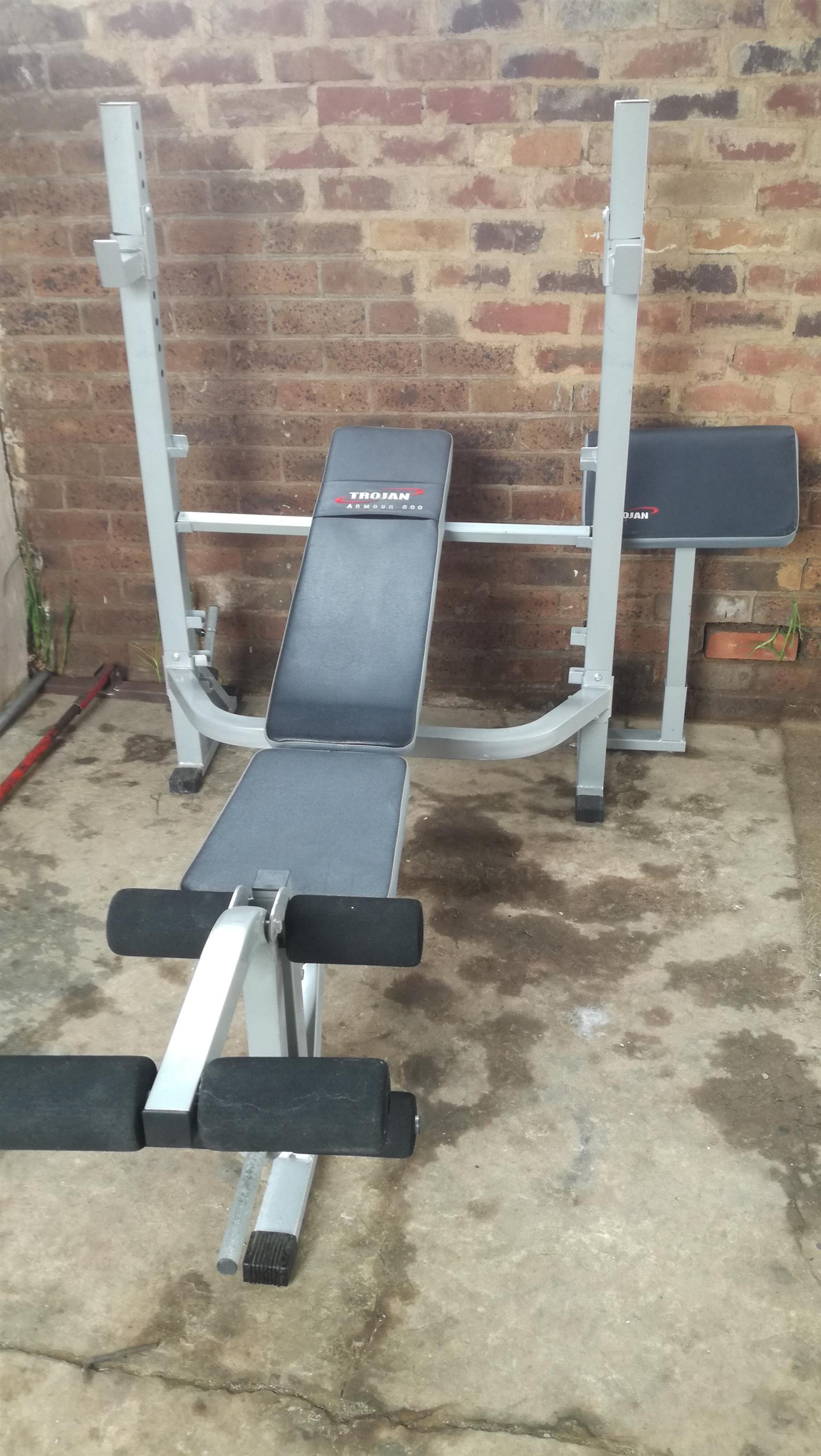 Trojan Armour 500 Heavy Duty Bench Press Like new.