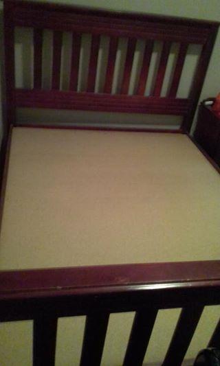 Dubbel Hout bed