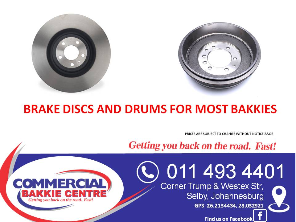 brake discs and drums for most bakkies
