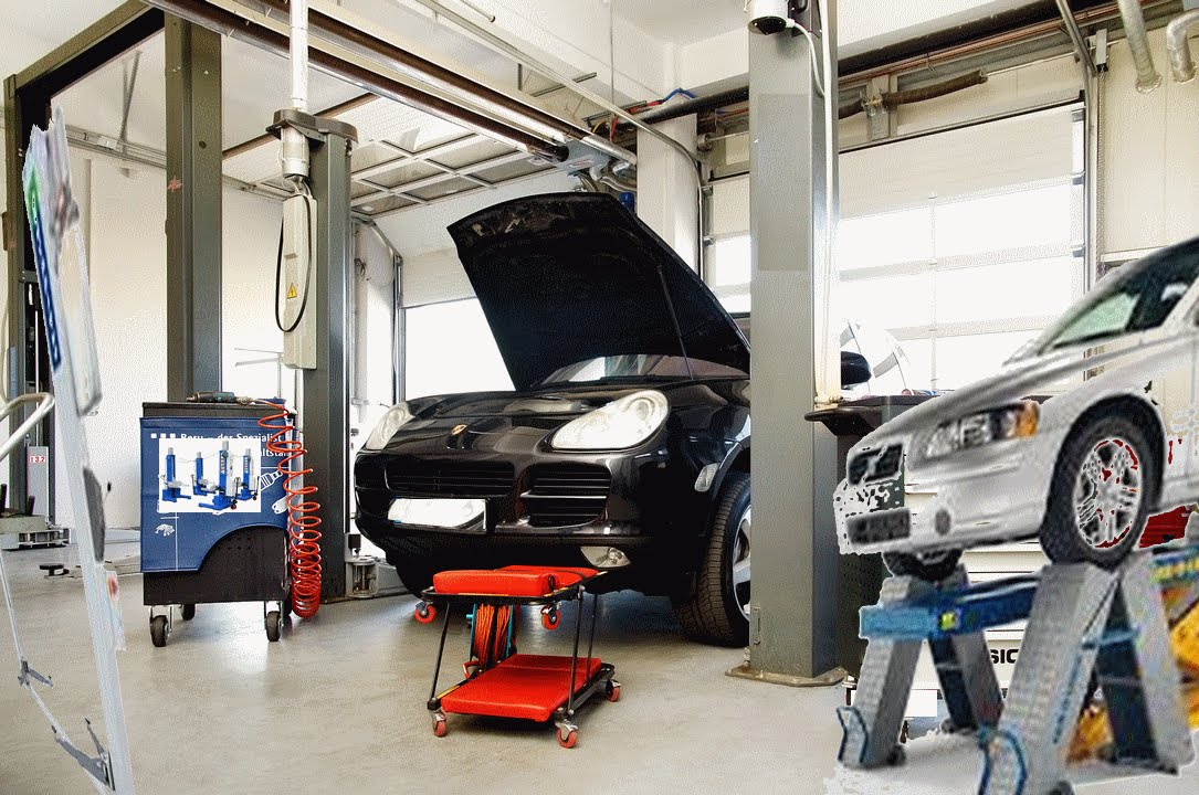 Auto Garage Tools For Sale: Mechanical Workshop In Busy Road