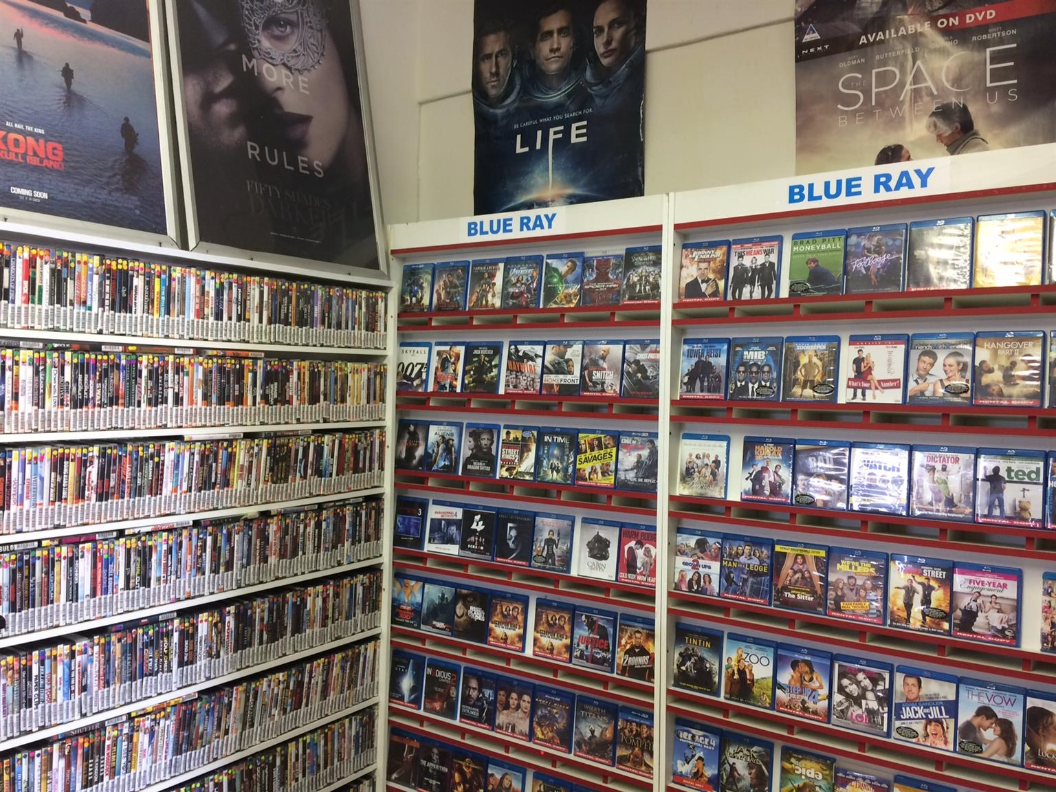 Dvd's, Shelving & computer system for sale