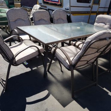 Patio table + chairs