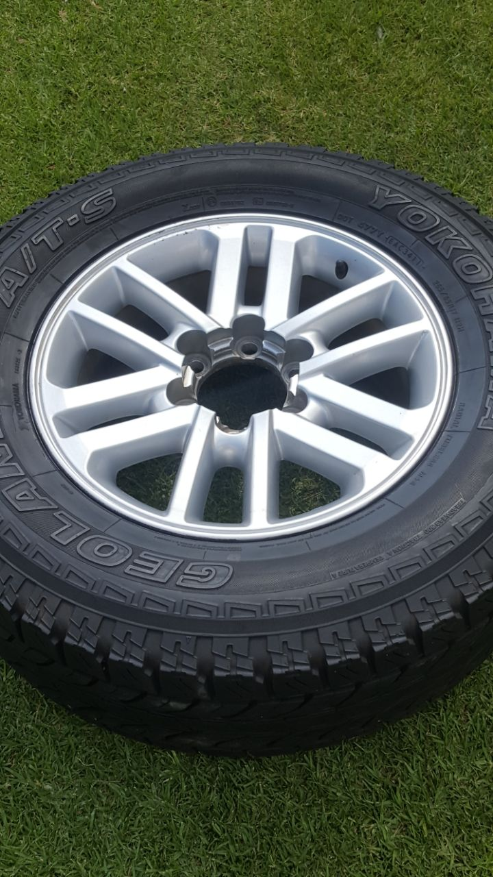 One Original 17 inch Toyota Fortuner or Hilux Spare Mag with AT Tyre