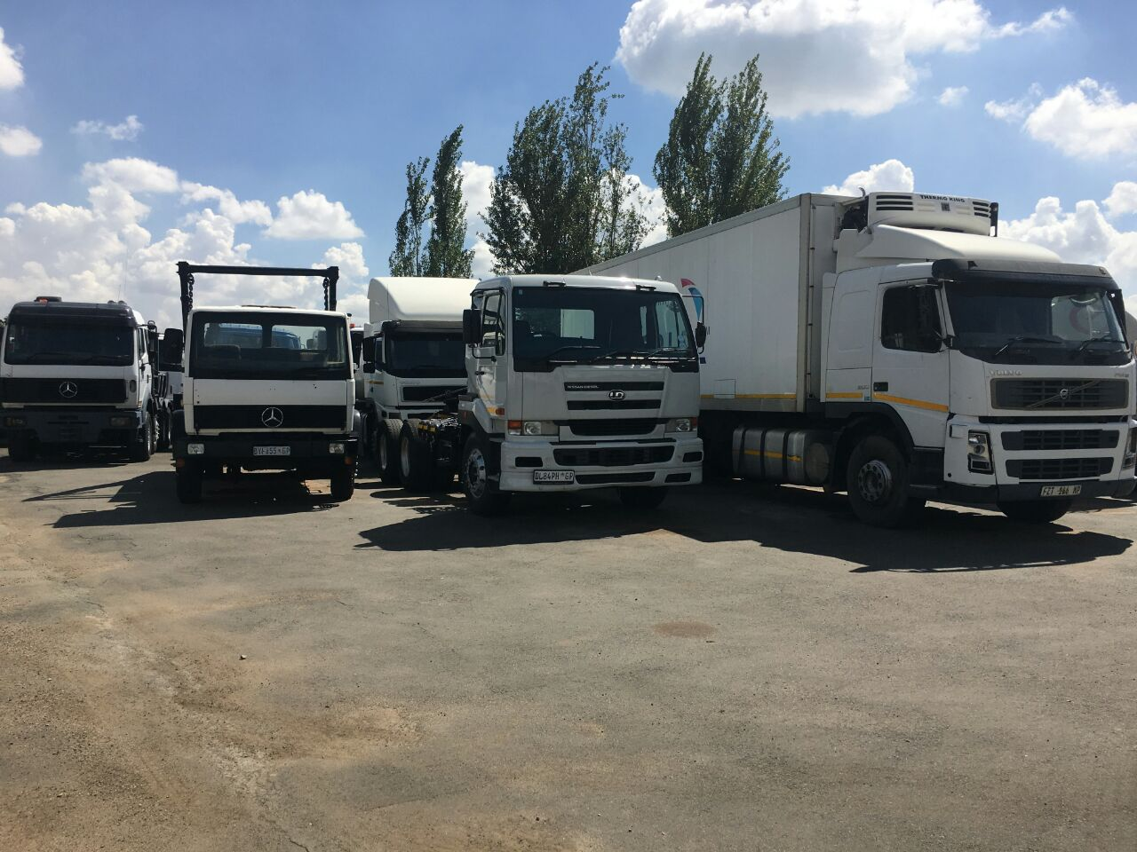 GET TWO TRUCKS OR MORE WITH TRAILERS AND WORK IN ONE OF THE BLUE-CHIP COMPANY. CONTACT DUMISANI ON 0747744729